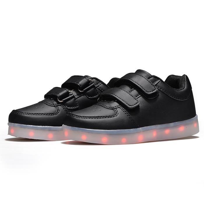 2016 printemps enfants Sneakers mode lumineux éclairé coloré USB de charge LED filles garçon Casual Sneaker enfants chaussures n03rFLu6aM