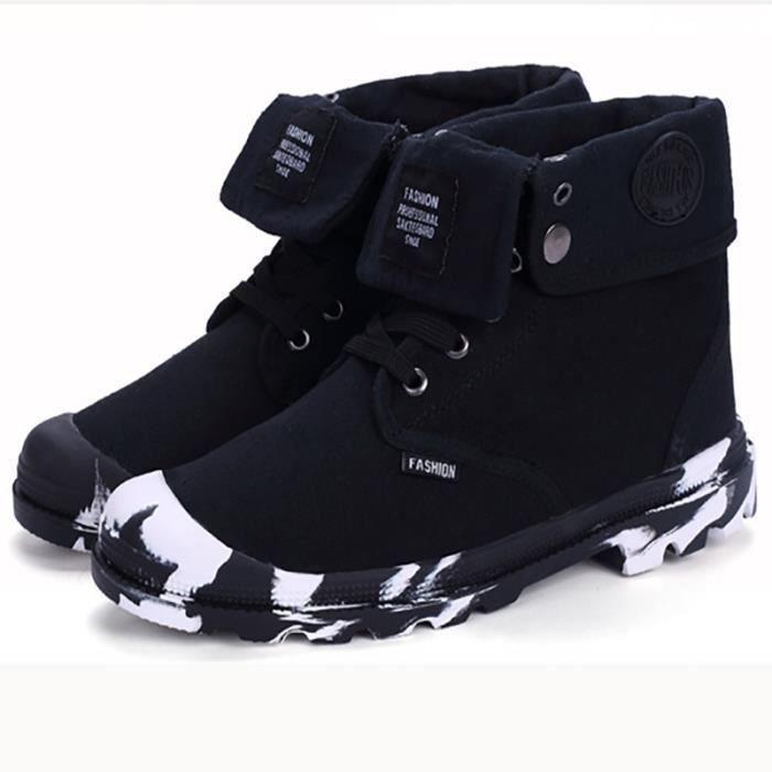 hommes coréenne style Bottes gris Skater plat dwqf66YxX