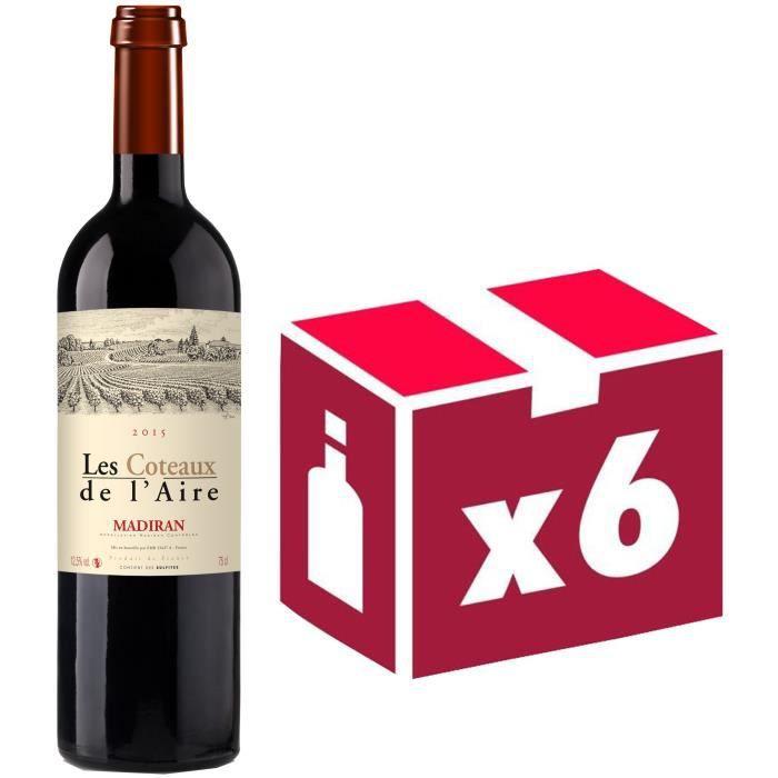 Les Coteaux de L'Aire Madiran Sud Ouest 2015 - Vin rouge