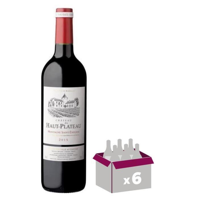 Château Du Haut Plateau Montagne - St Emilion - Grand Vin de Bordeaux - 2015 - Vin rougeVIN ROUGE