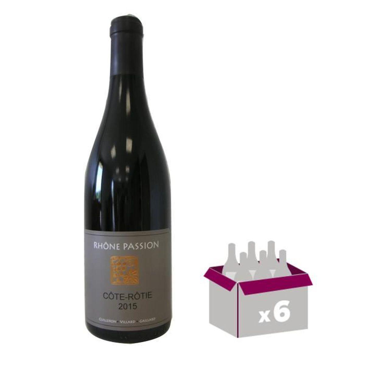 les vins de vienne rh ne passion c te r tie 2015 vin rouge 75cl x6 achat vente vin rouge. Black Bedroom Furniture Sets. Home Design Ideas