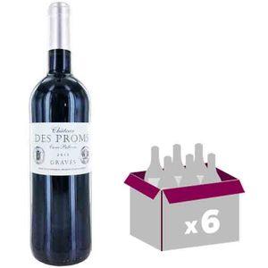 VIN ROUGE Château des Proms Graves 2015 - Vin rouge x6