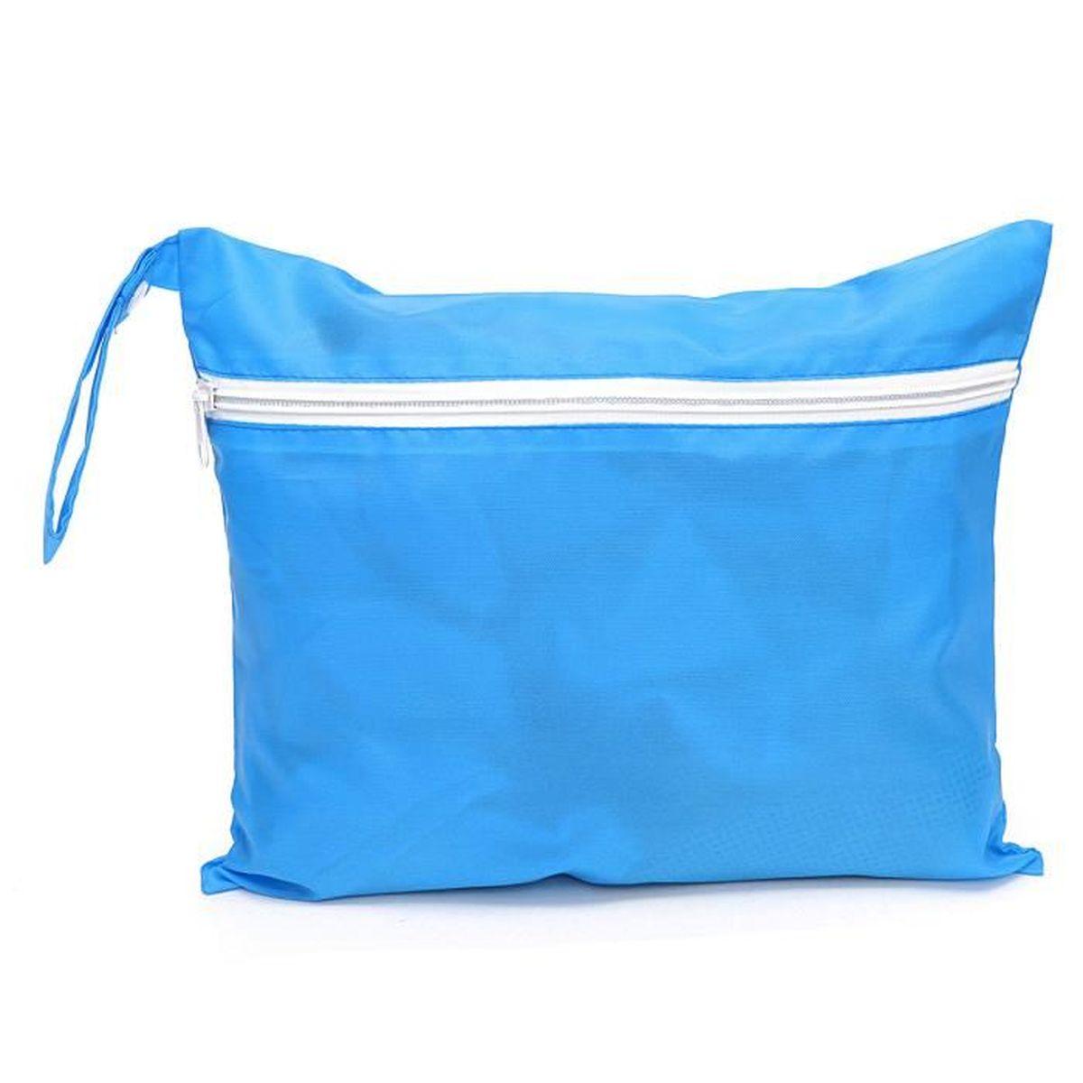 Sacs à couches rangement imperméable tote landau pour couche vetement nappy bébé bleu clair