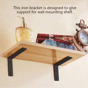 PORTEUR - POUSSEUR 1 paire de fer lourds supports muraux étagère pour