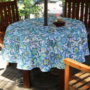Table ronde jardin avec trou parasol - Achat / Vente pas cher