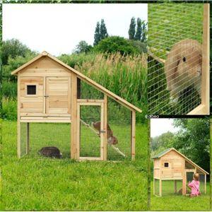 ACCESSOIRE ABRI ANIMAL Cabane cage pour lapins ou rongeurs de luxe à deux
