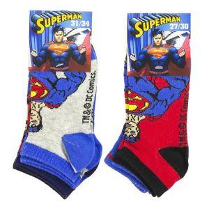 CHAUSSETTES Lot de 6 Chaussettes Invisibles SUPERMAN DISNEY Co