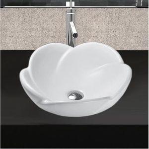 LAVABO - VASQUE vasque en céramique Lavabo FORME FLEUR