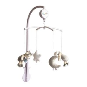 MOBILE BABY NAT Mobile Musical Les Luminescents Gris Taup