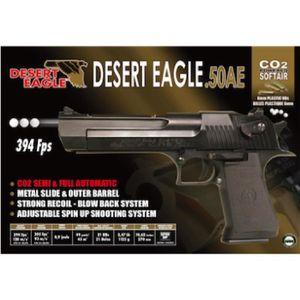 PISTOLET BILLE MOUSSE Desert Eagle Co2 6mm C. Mobile Auto 21bb'S (Charge