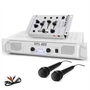 ENCEINTE ET RETOUR SET DJ Ampli Mixer Microphone 1200W
