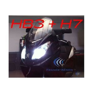 AMPOULE TABLEAU BORD Pack xénon HB3 + H7 8000K - moto