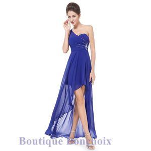 Robe cocktail mariage bleu roi