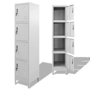 ARMOIRE DE CHAMBRE Armoire à casiers avec 4 compartiments 38 x 45 x 1