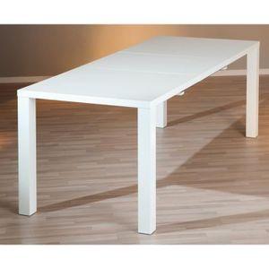 TABLE À MANGER SEULE Table à manger extensible coloris blanc laqué - Di