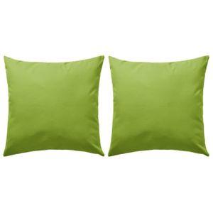 Coussin exterieur vert - Achat / Vente pas cher