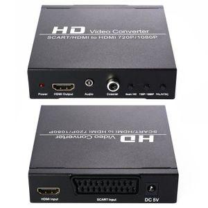 REPARTITEUR TV VSHOP®Adaptateur HDMI à Péritel convertisseur AV C