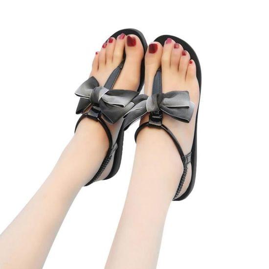 Femmes High Talon noir Haut Buckle Heels Sandales Shoes Fleurs Bloc Dames  Adorn wwZ14T ... 5b6de82c314b