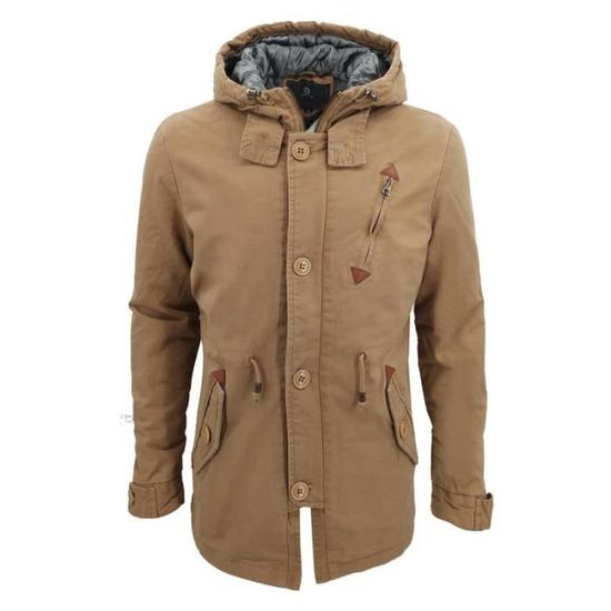 54adb6b4c9a70 Marque Luxe Masculin Veste Vêtement De D hiver À Homme Manteau Moyen Unie  Capuche Couleur Long OTEFw