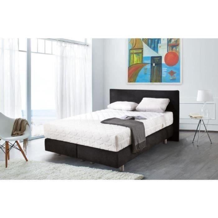Soutien équilibré pour ce lit complet ensemble 160x200 cm à matelas 768 ressorts ensachés - 24 cm d'épaisseur - Sommier tapissier 20 cm d'épaisseur - Tête de lit fournieLIT COMPLET - MEUBLE ET SOMMIER - MEUBLE ET SOMMIER ET MATELAS