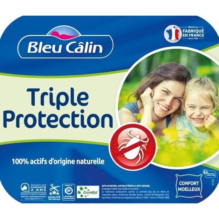 BLEU CALIN Traversin ESSENTIAL by PRONEEM™ - 100% coton traité Pur Essential ™ - 160 cm