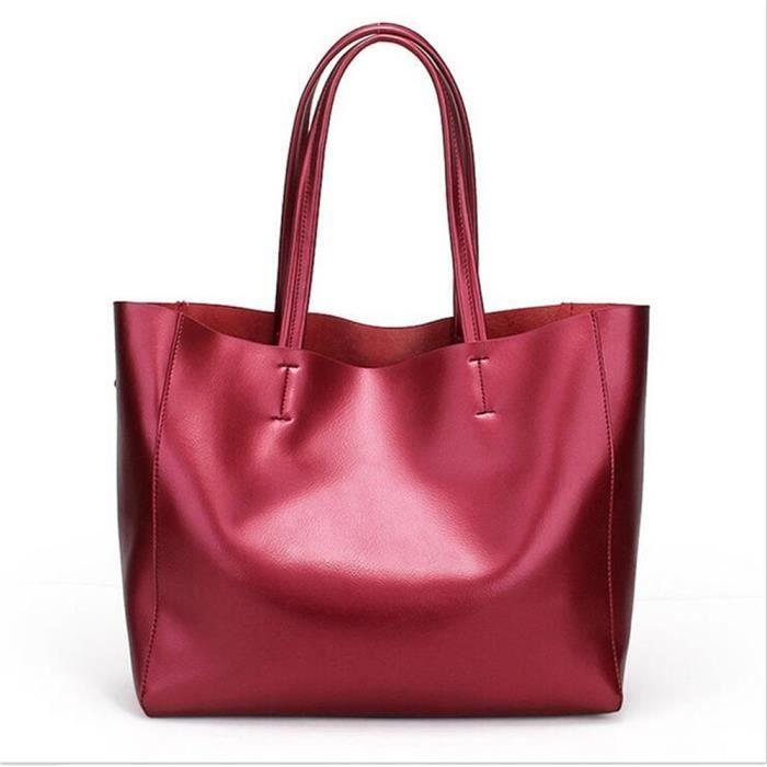 Sac La mode2017 Sacs à main Mme besace Mme Messager de sacs grande capacité portable sac rouge