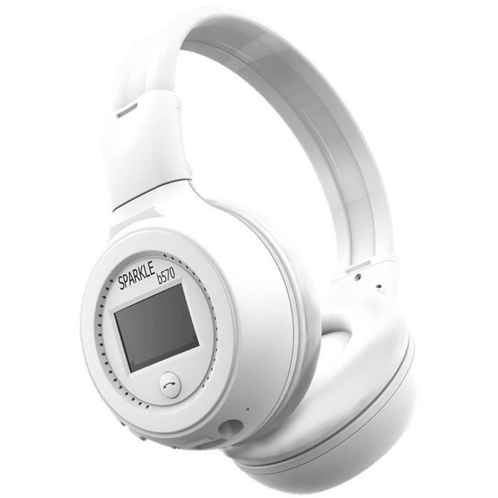 Zealot B570 Sports De Plein Air Ecran À Led Écran Bluetooth Fm Écouteurs Sans Fil Blanc