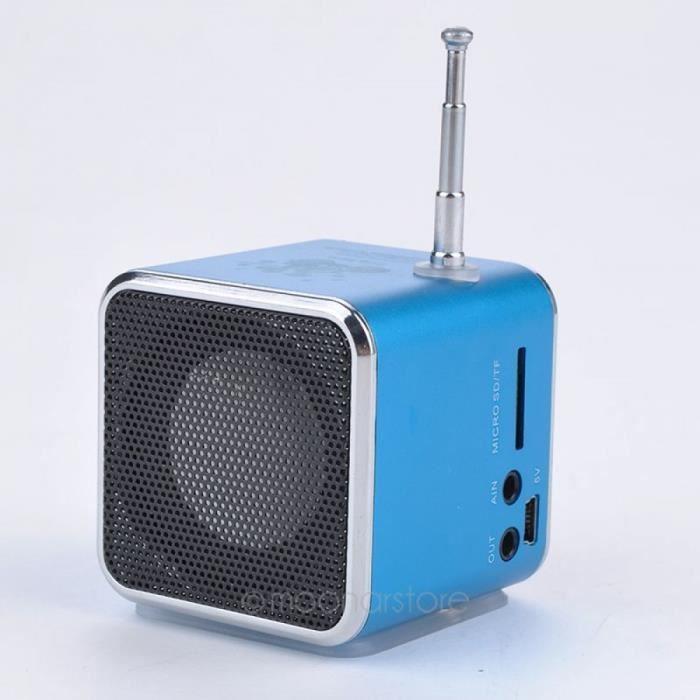 Style Portable Enceinte Rouge Electronique Date Bluetooth Sans Fil Mini Haut-parleur Fer Homme Led Clignotant
