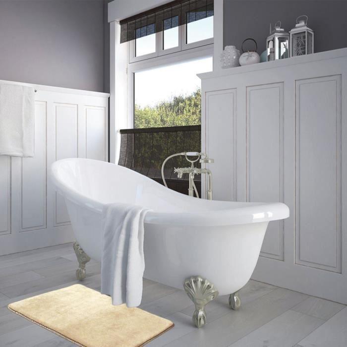 Tapis de sol Tapis absorbant de salle de bain Mats 40 * 60cm Beige ...