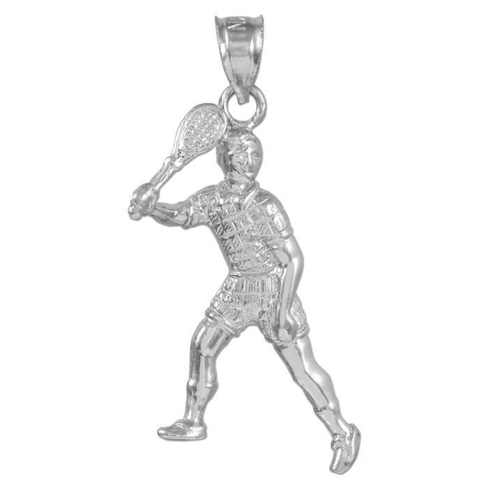 Collier PendentifArgent Collier PendentifCharm Tennisjoueur (vient avec une Chaîne de 45 cm)