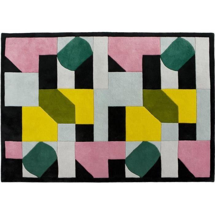 Tapis en laine multicolore achat vente tapis en laine multicolore pas cher soldes d s le - Tapis multicolore pas cher ...