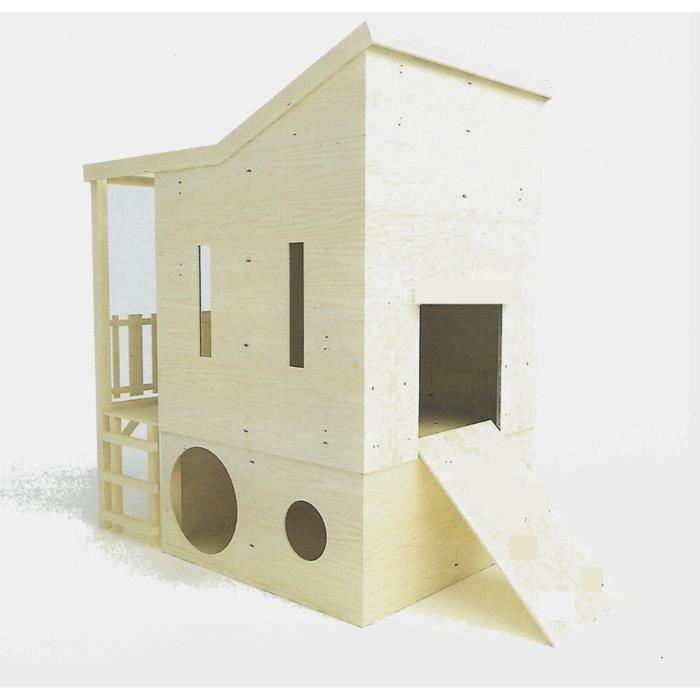 Cabane bois enfant attrayant cabane de jardin a faire soi - Maisonnette en bois sur pilotis pas cher ...