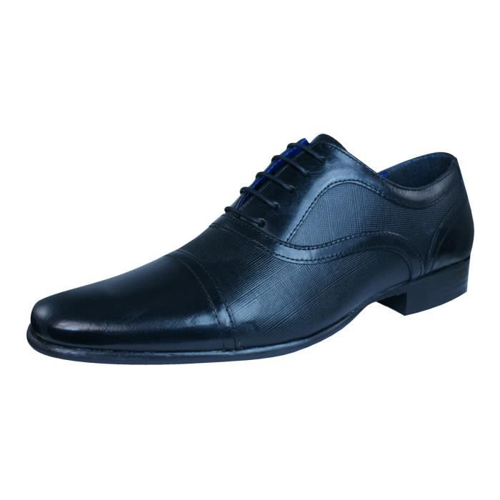 Red Tape Potton hommes en cuir Loafers - Chaussures Black 9