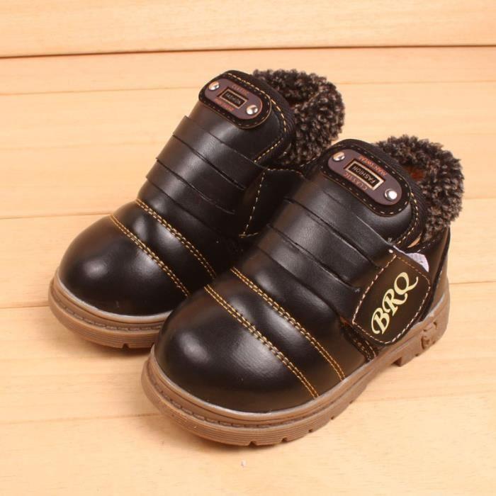 Chaussures garçon bottes garçon hiver bottes de coton neufs enfants bottes simples chaussures bottes pour enfants anti-dérapantes