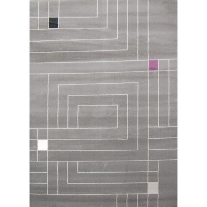 Paradise tapis de salon gris beige 160x230 cm achat for Tapis de salon gris et beige