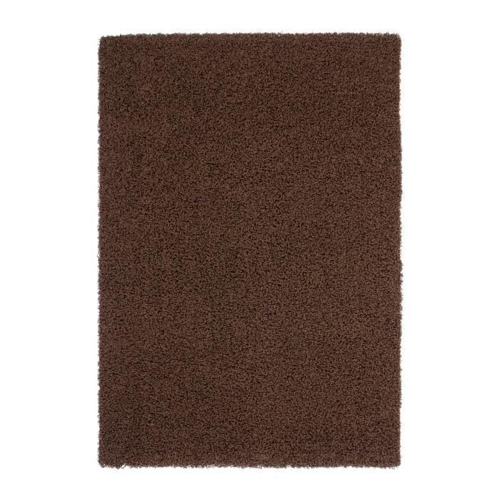 TRENDY Tapis de salon Shaggy marron 120x160 cm - Achat / Vente tapis ...