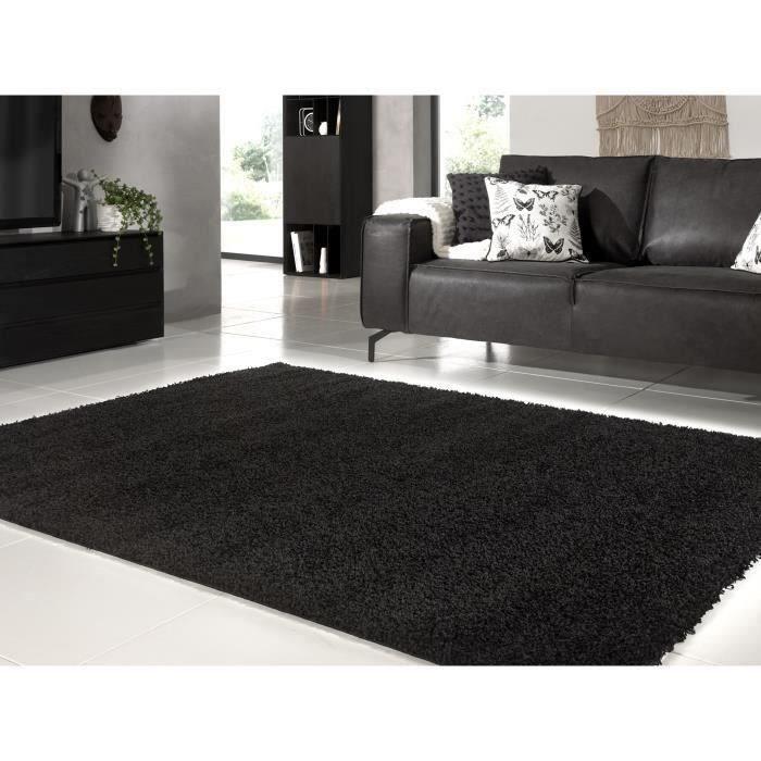 tapis trendy tapis de salon shaggy en polypropylne 12 - Tapis Noir