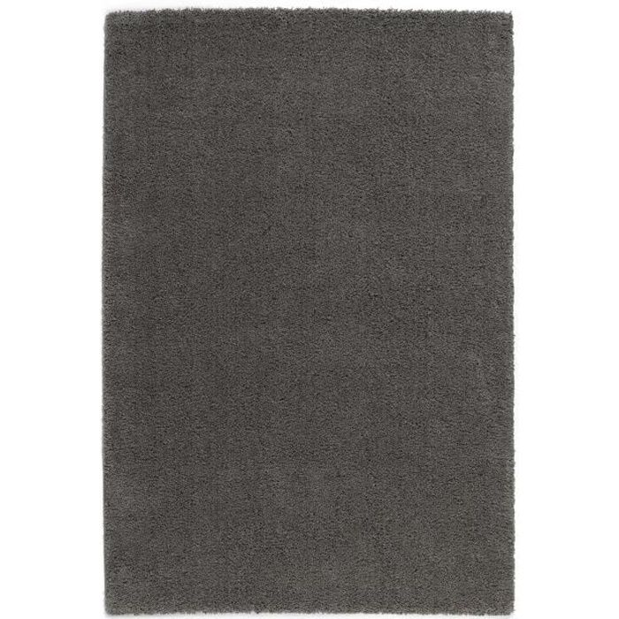 trendy tapis de salon shaggy gris fonc 120x160 cm achat vente tapis 100 polypropyl ne. Black Bedroom Furniture Sets. Home Design Ideas