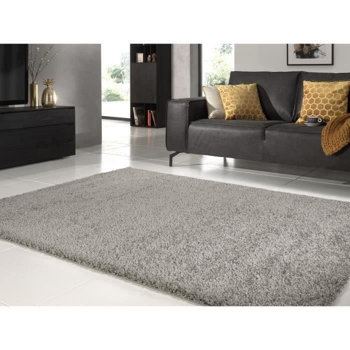TRENDY Tapis de salon Shaggy gris 120x160 cm - Achat / Vente tapis ...