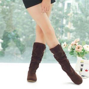 Bottine Femme hiver Classique peluche boots BSMG-XZ003Gris-36 OJWQmdtTM