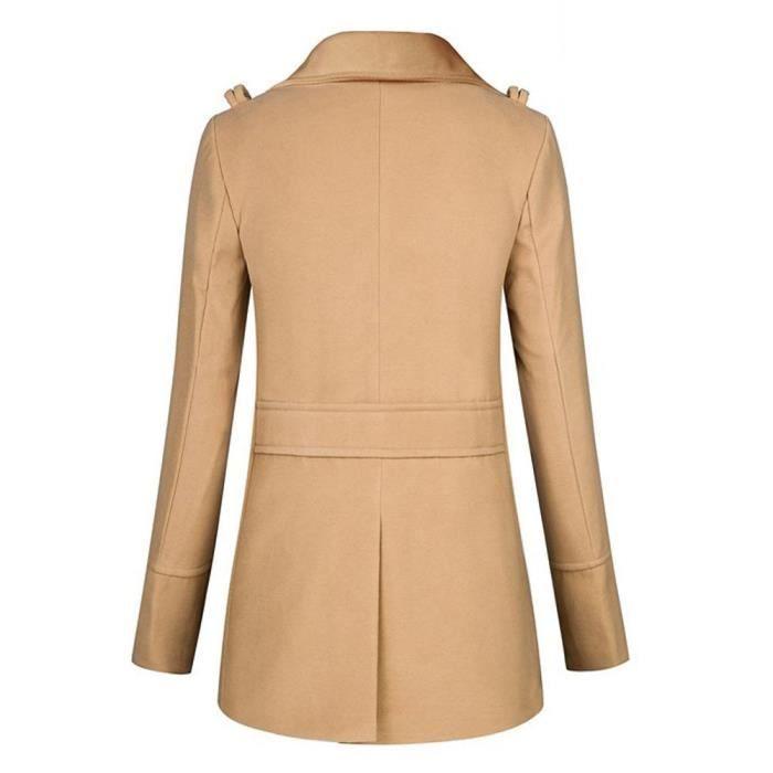 cb913a290270 Boutonnage zy5293 Longue Double À Manteau Femme Slim Overwear Long Jacket  qww8xz4a