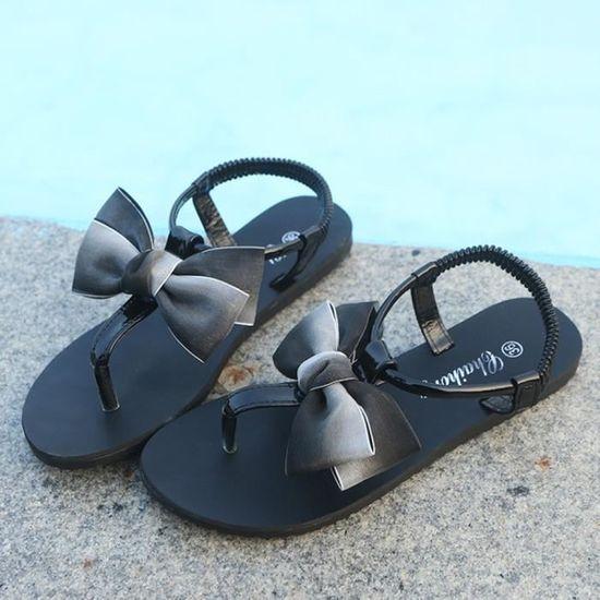 ... Femmes High Talon noir Haut Buckle Heels Sandales Shoes Fleurs Bloc  Dames Adorn wwZ14T ae1c771cc599