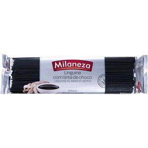 PÂTES ALIMENTAIRES MILANEZA Linguine à l'encre de seiche 2x500g