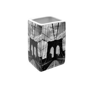 PORTE ACCESSOIRE FRANDIS Gobelet carré en céramique Brooklyn