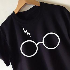 T-SHIRT JXIN  Noir  Harry Potter de lunettes  Femme  T - s