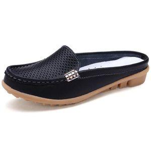 Mocassin Femmes Cuir Occasionnelles Classique Chaussure BWYS-XZ045Noir37 i29EOGc
