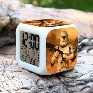 HORLOGE - PENDULE  Star Wars Wikipedia couleur d'alarme changeur Hor