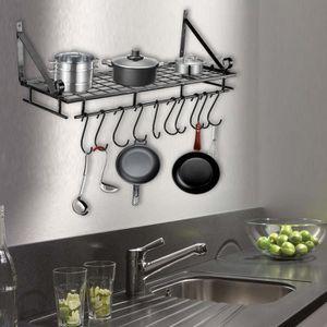 ETAGÈRE MURALE Étagère mural Support de pot de casserole Meuble à