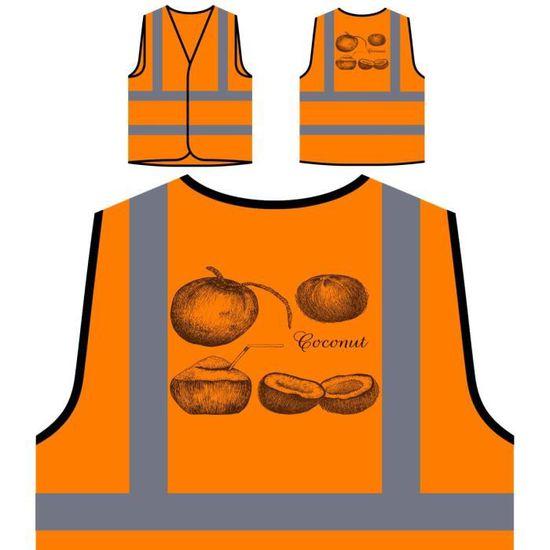 Main Noix De Haute À Pe Protection Orange Visibilité La nouvelle Personnalisée Coco Veste Z8vqw