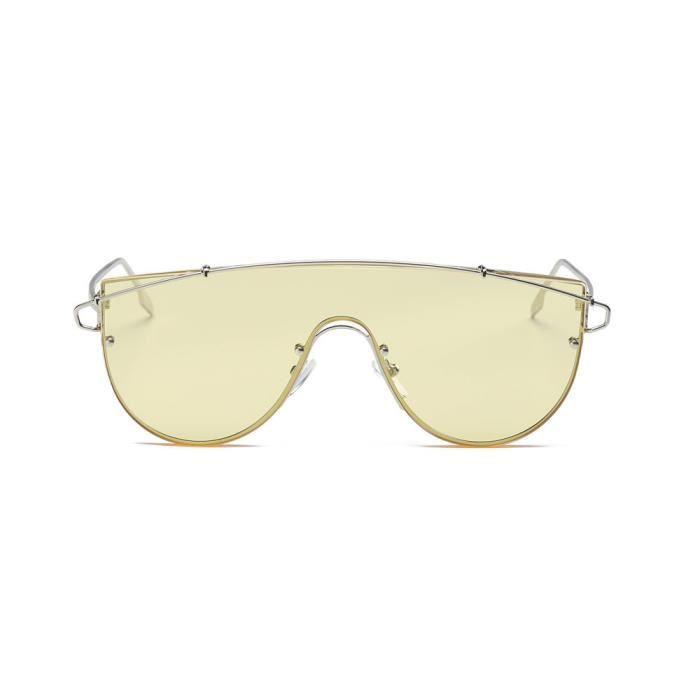 Deuxsuns®Femmes Hommes Vintage Rétro Lunettes Unisexe Mode Aviateur Miroir  Lentilles De Soleil J  bf361f1e6694
